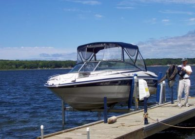 Vertical Boat Lift with electric winch