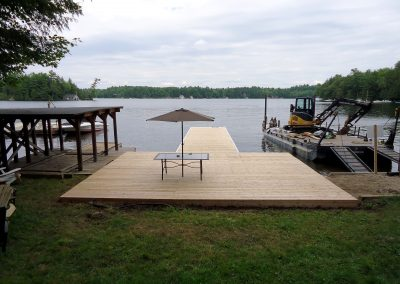 Steel dock in Cedar on Lake Muskoka